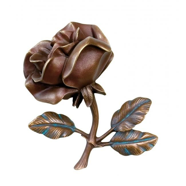 Bronze tombe rose