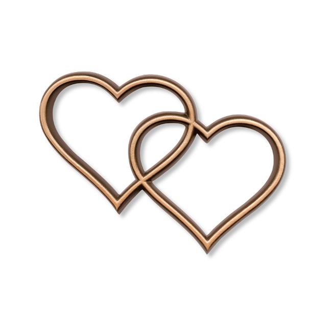 Bronze tombe coeur
