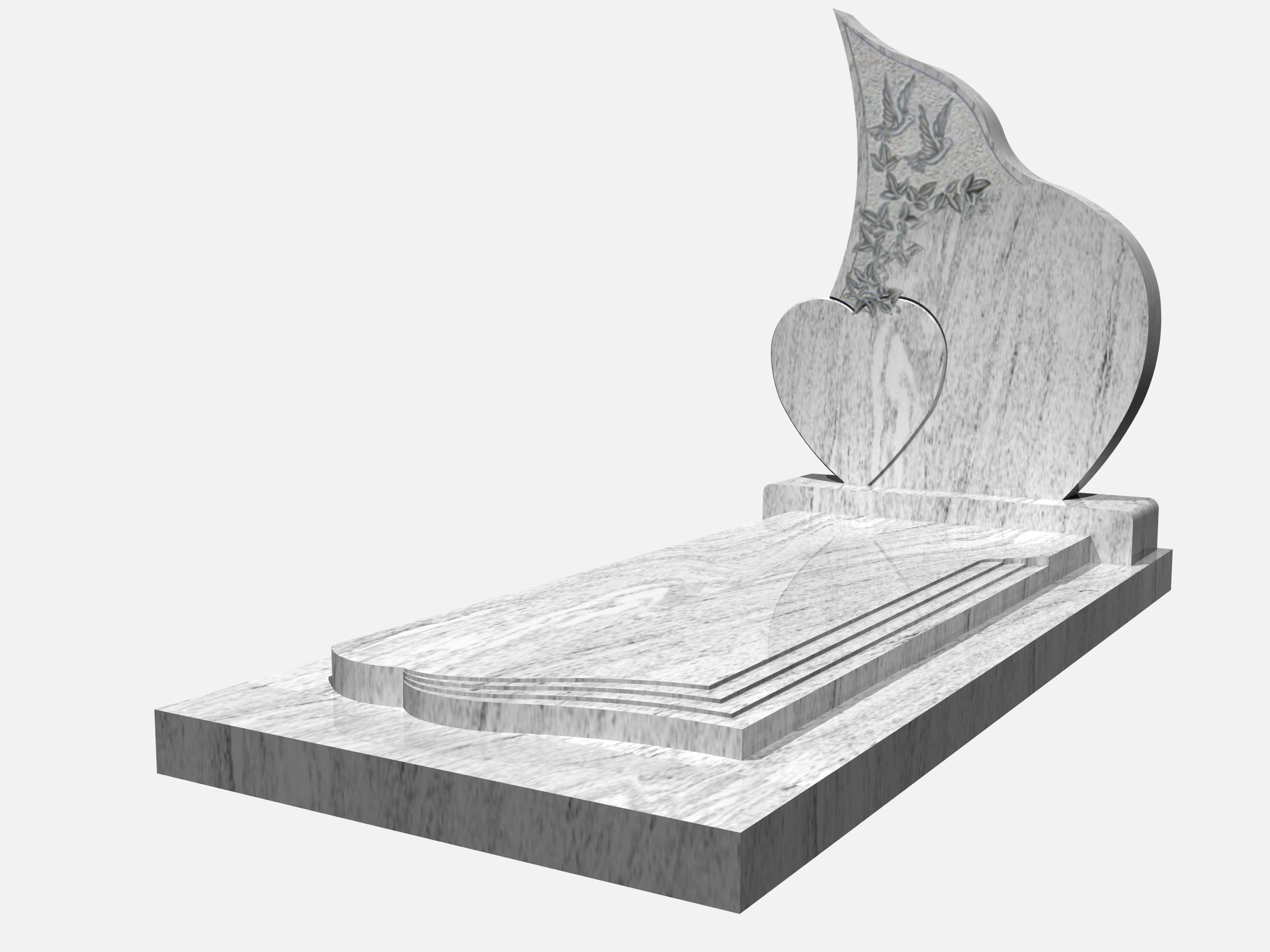 stele funeraire 2 coeurs
