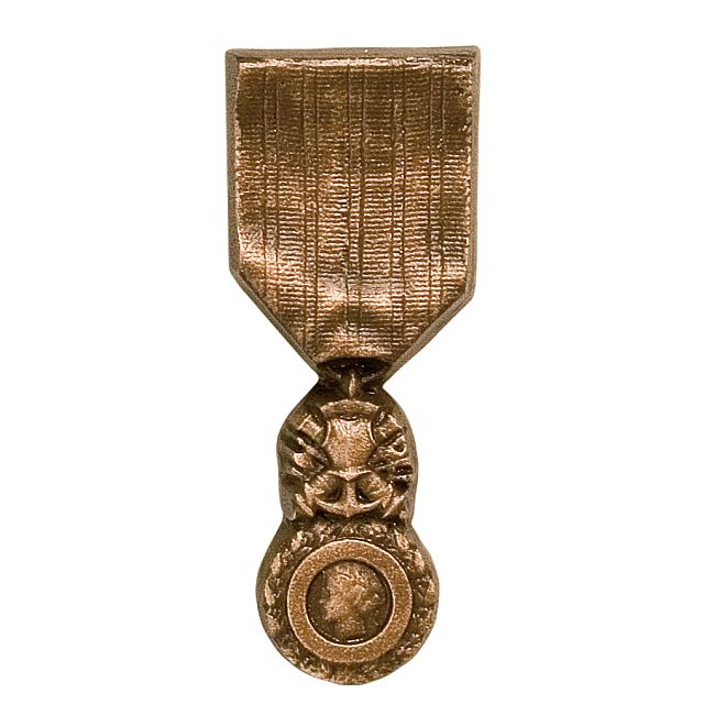 Bronze tombe médaille