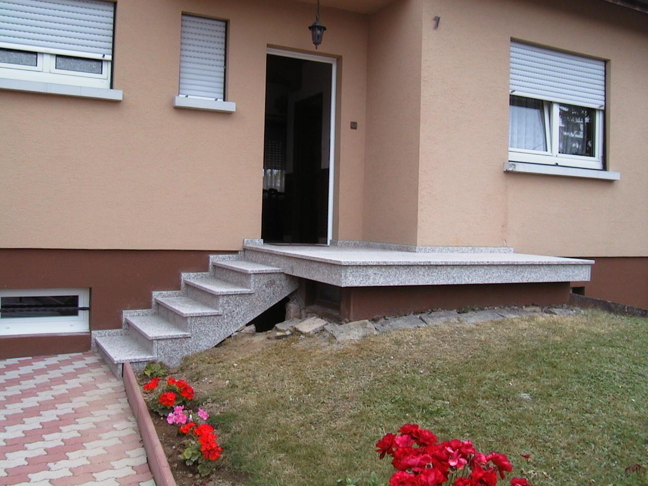 terrasse en granit kembs, hesingue, kappelen, bartenheim. Escalier pas cher, Escalier de qualité