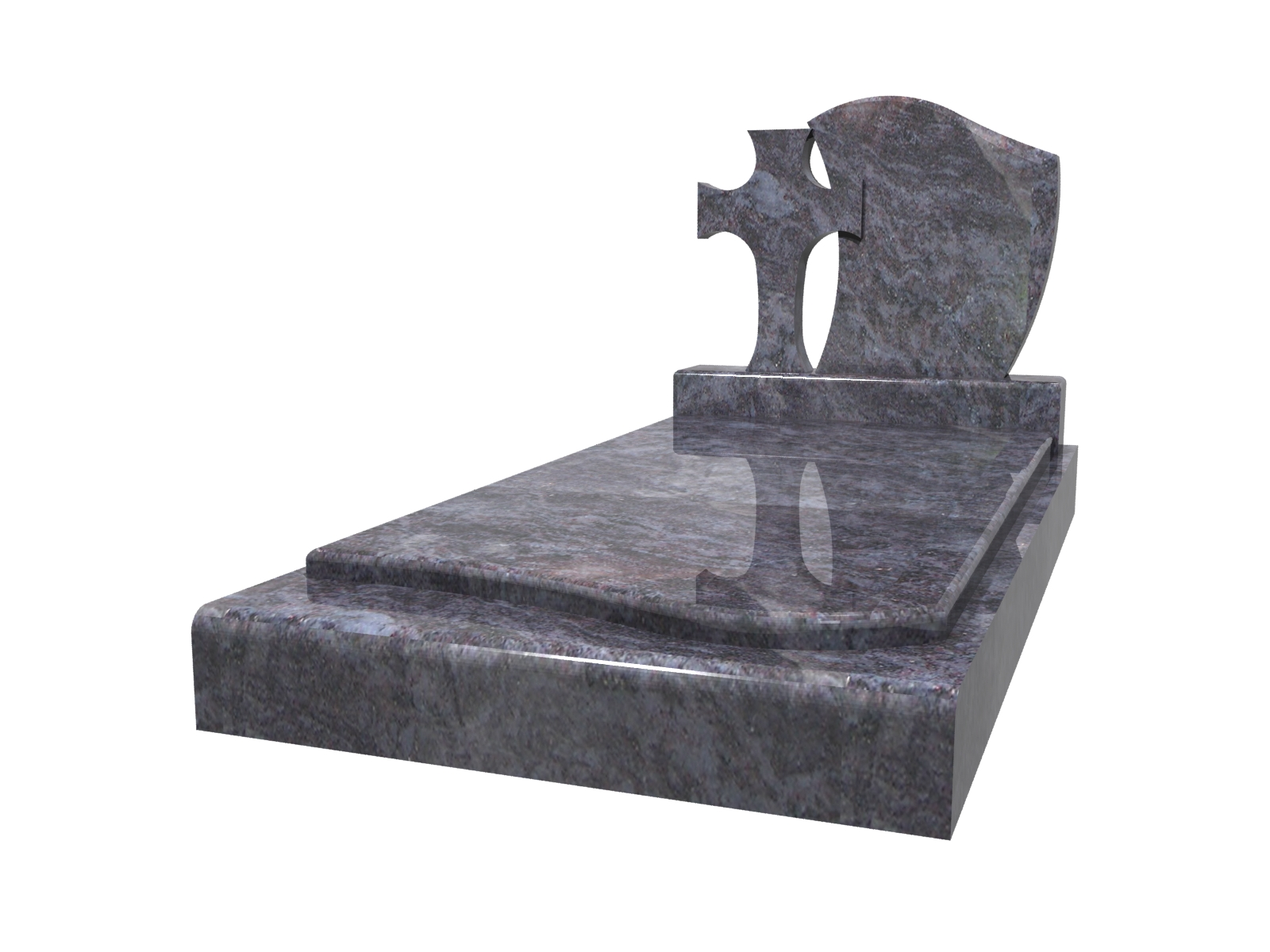 stele en forme de croix cimetière