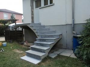 Nos r alisations d am nagements entreprise de r f rence for Escalier exterieur granit