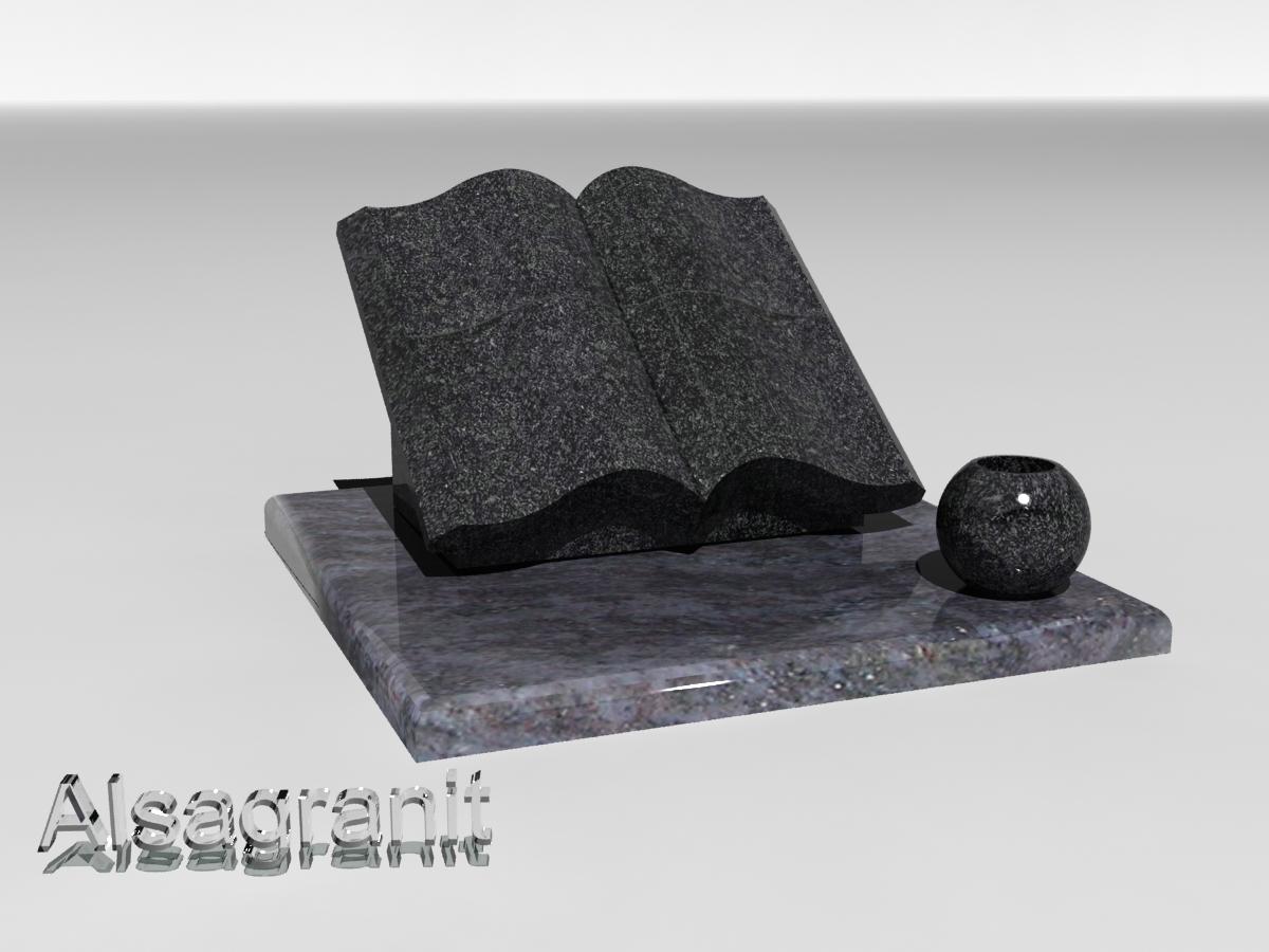 pierre tombale cineraire forme de livre