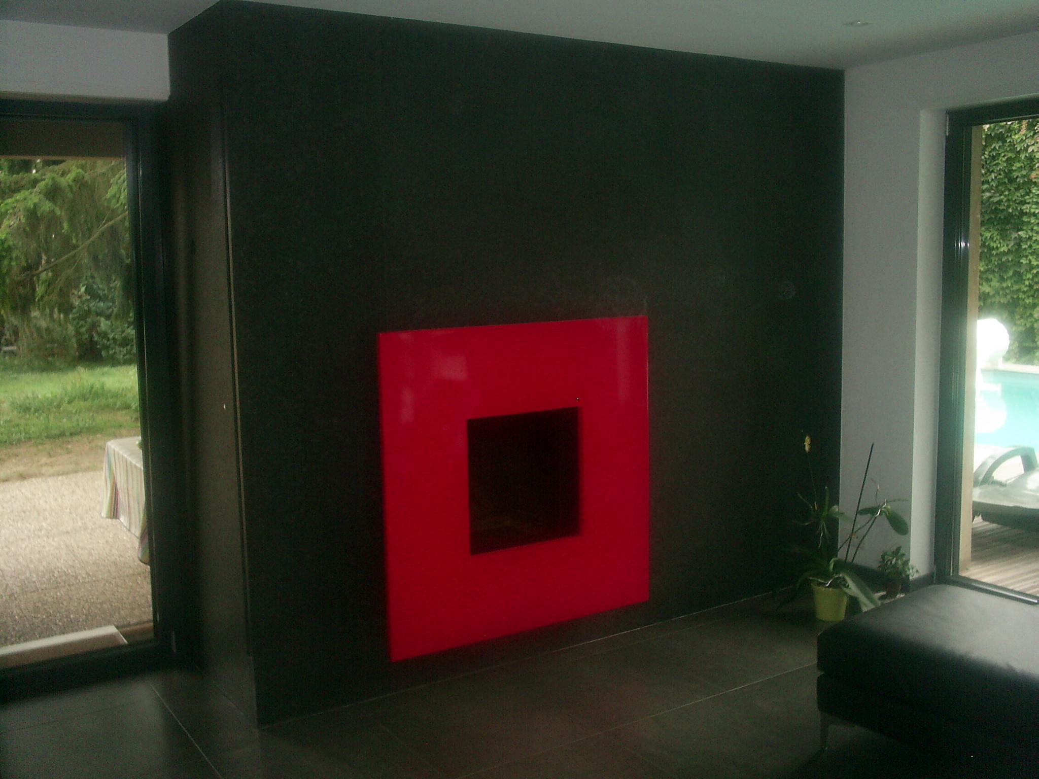 habillage de cheminée en granit Mulhouse, Colmar