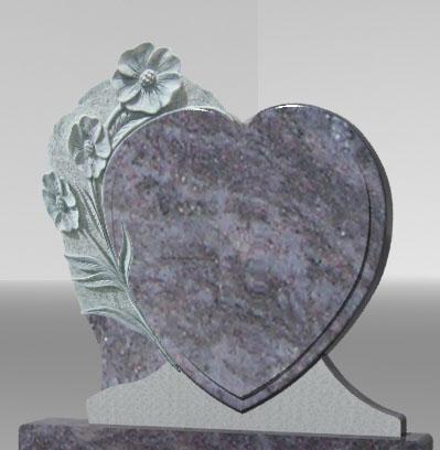 stele coeur et gravure cimetière