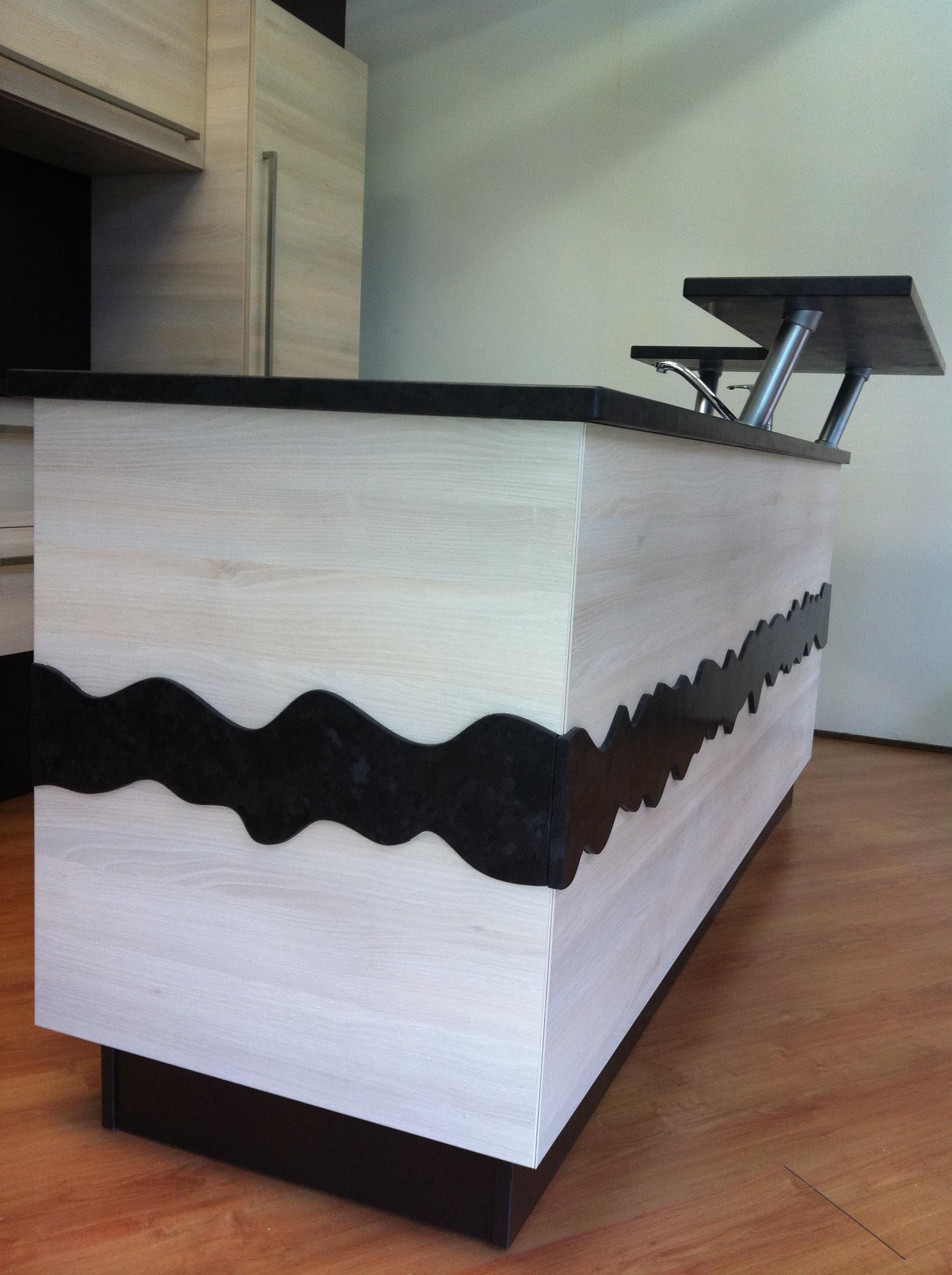 habillage granit meuble cuisine