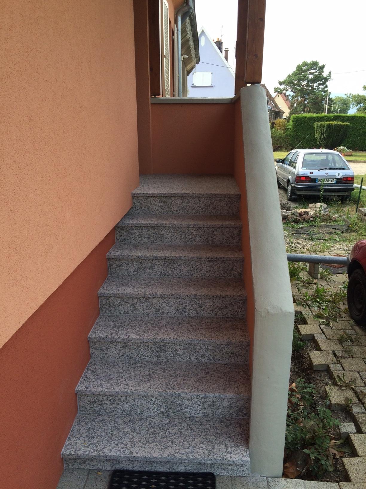 escalier granit maison des mines alsace wittelsheim