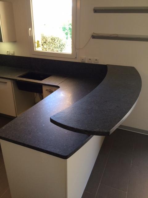 cuisine granit steel grey cuir