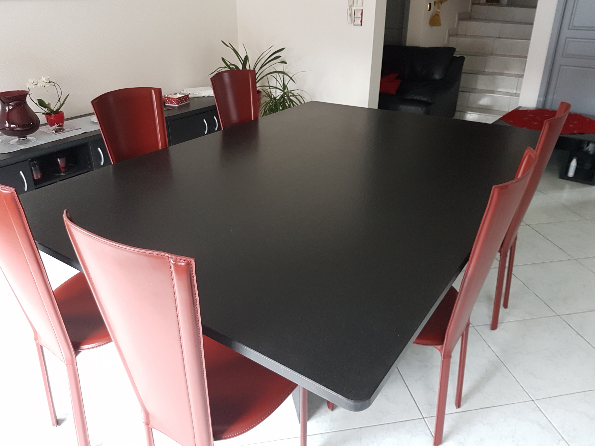 Table en granit pied en granit