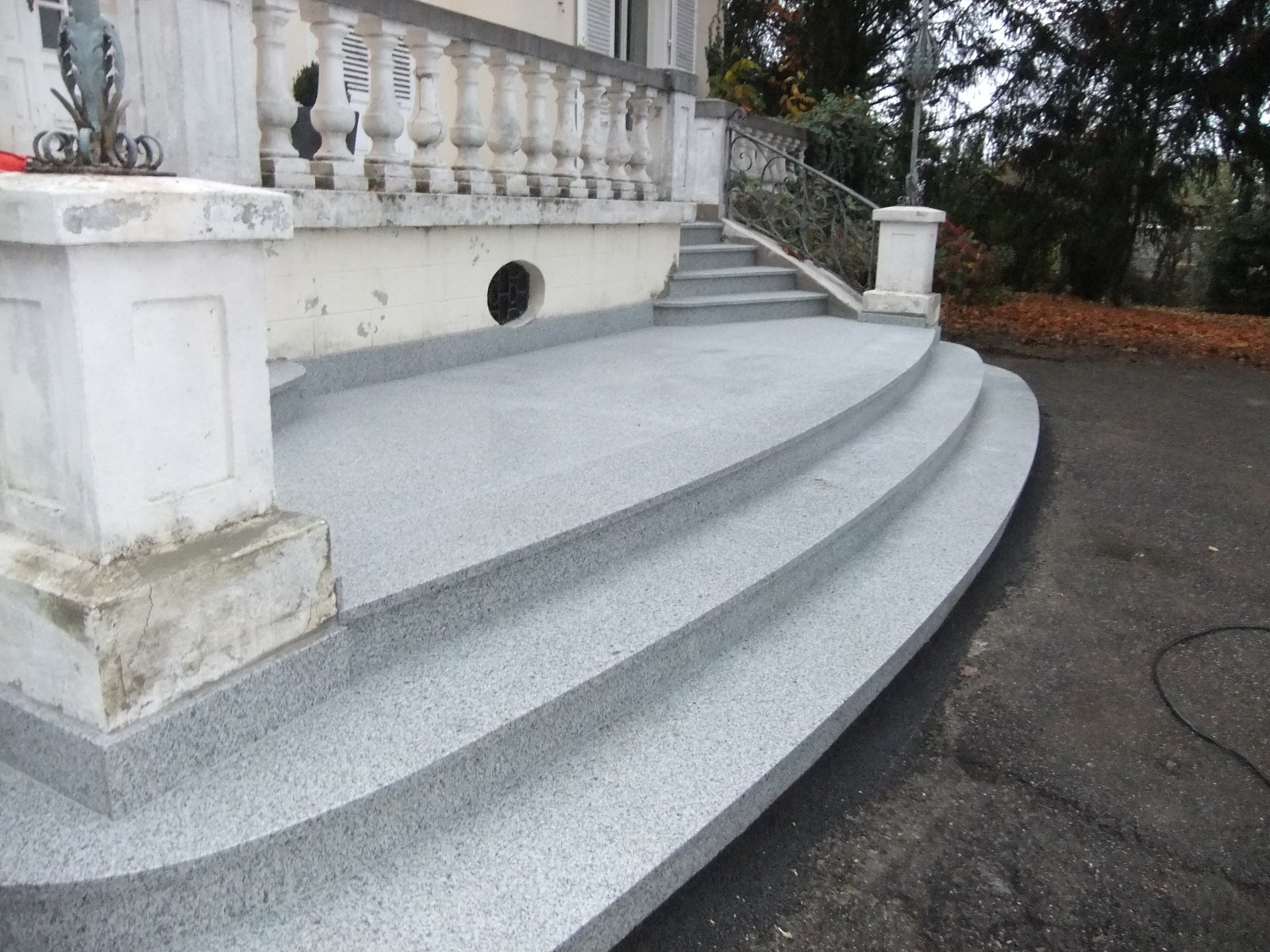 double escalier granit alsace